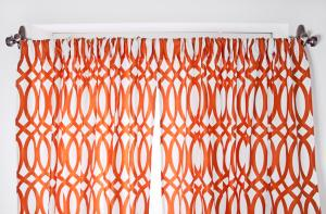 Easily dress up your windows with some fun colorful curtains.