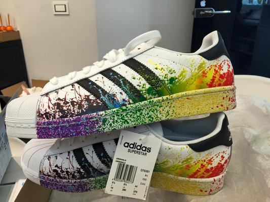 scarpe adidas vernice