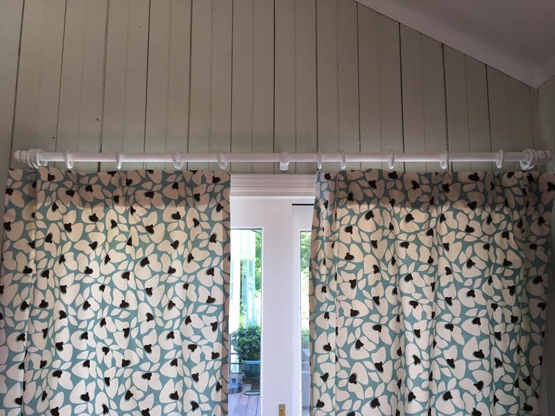 white curtain rod