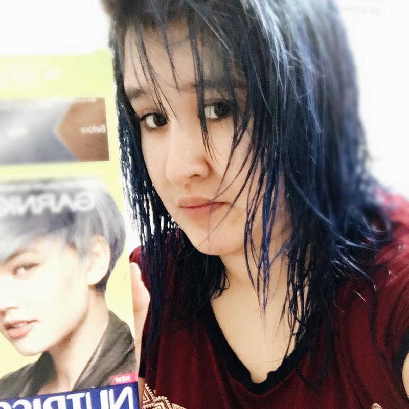 garnier blue black hair dye review best hair color 2017