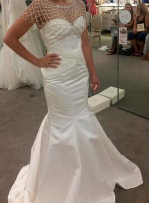 Truly Zac Posen Satin Corset Back Wedding Dress