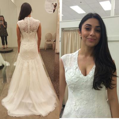 Melissa Sweet Cap Sleeve Lace Wedding Dress