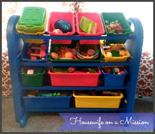 Review photo 1 & ELR-20401: 4-Tier Plastic Storage Organizer with Bins Blue