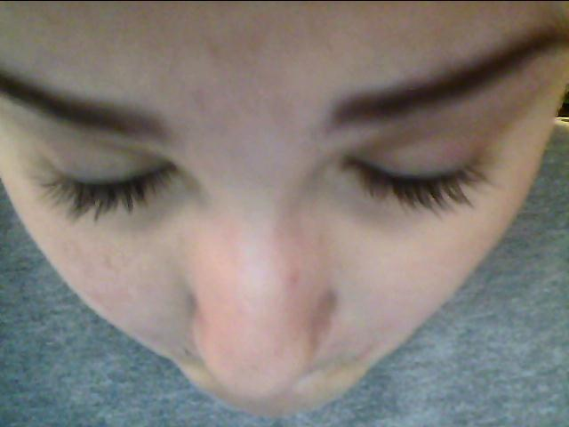 with mascara on lashes(: