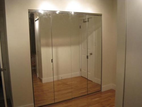 Mirrored Bifold Closet Doors : Mirrored closet bifold doors roselawnlutheran