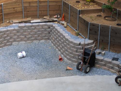 Retaining Wall Home Depot garden wall stones home depot. rock blend concrete wallpavestone
