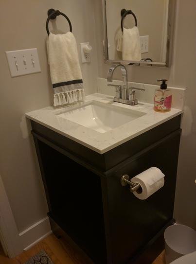 Home Decorators Collection 37 in  W Engineered Marble Single Vanity Top in  Vanilla Sky with White Basin VANSKY3722 2CM   The Home Depot. Home Decorators Collection 37 in  W Engineered Marble Single