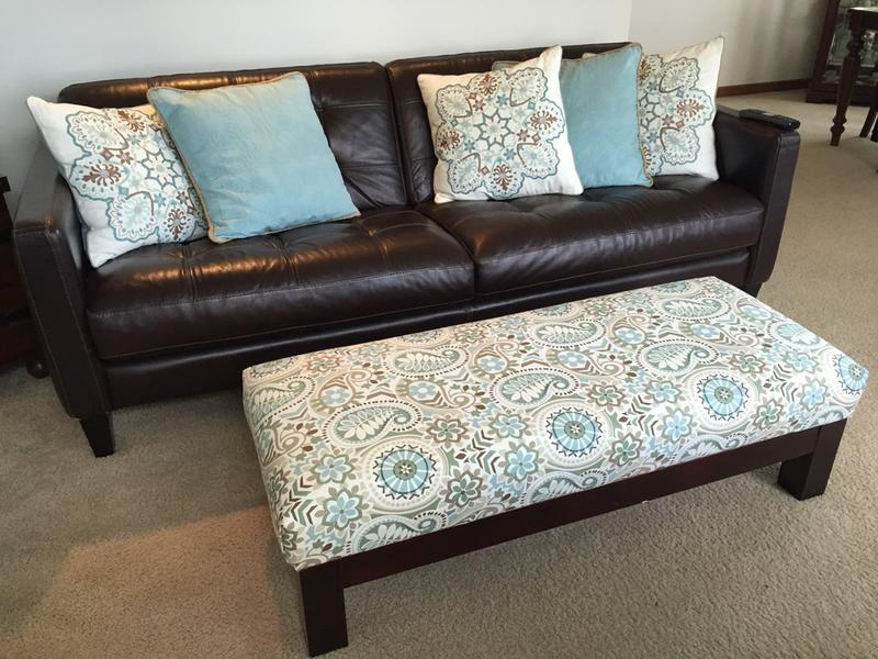 First Time Reupholstering Ottoman
