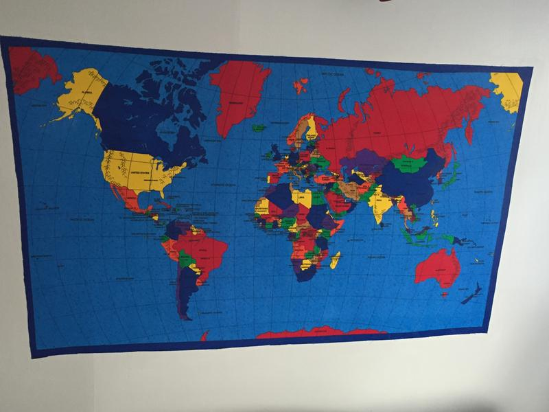 Joann stores novelty cotton fabric world map panel joann review photo 1 gumiabroncs Gallery
