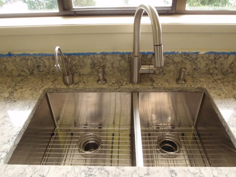 Kitchen Faucet Placement | Loften All In One Dual Mount Drop In Stainless Steel 33 In 2 Hole