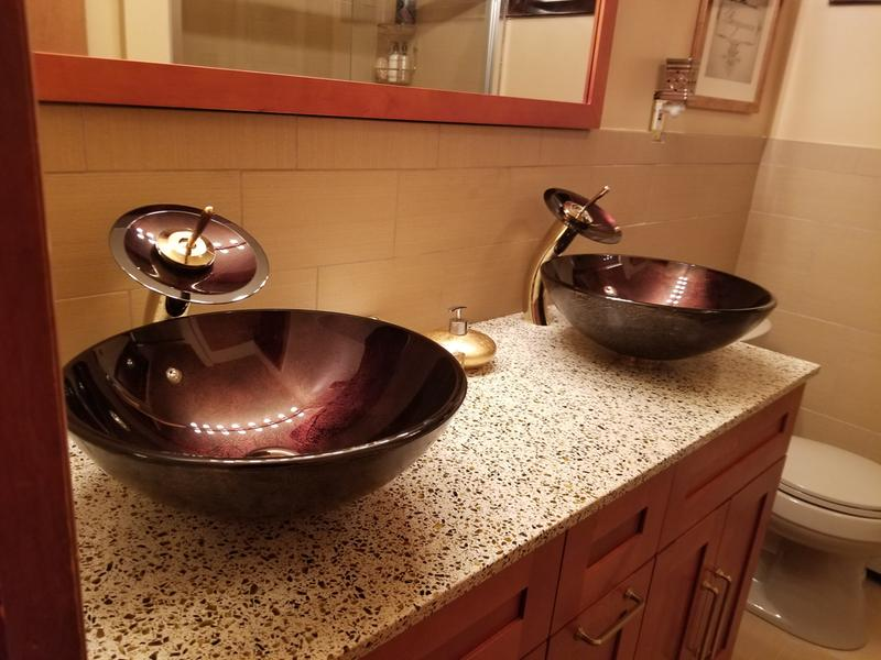 Bathroom Glass Vessel Sink and Faucet Combination | KrausUSA.com