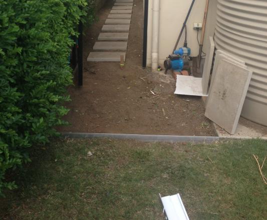 Garden Edging Blocks Masters : Link edge aluminium garden edging mmx m pack masters home