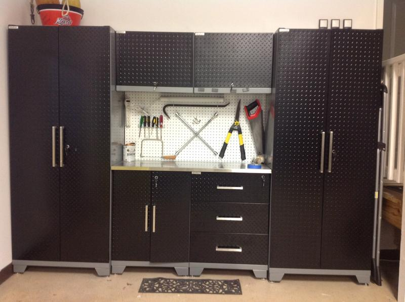 Amazing Newage Diamond Plate Pc Set With Garage Cabinets