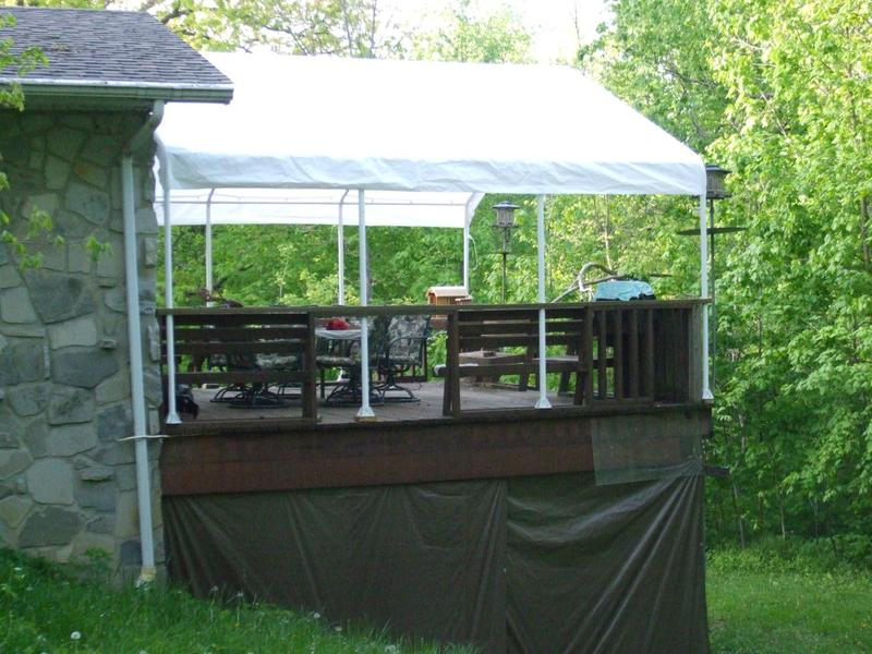 My cover shortened 4 feet + 18ft wide X 16ft long & Canopy Replacement Top - Super Max™ 18 x 20 ft.