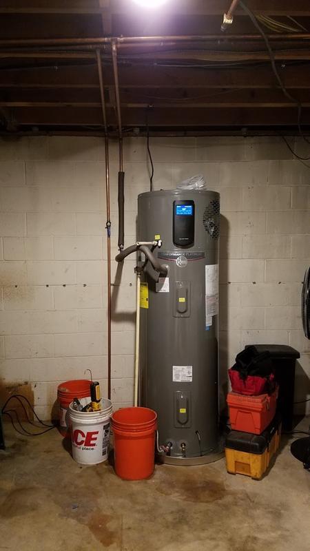 rheem 50 gallon hybrid water heater. review photo 1 rheem 50 gallon hybrid water heater