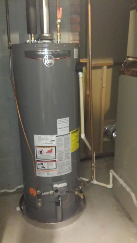 rheem water heater 40 gallon. we got hot water! rheem water heater 40 gallon