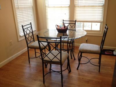 glass dining set breakfast nook kitchen table