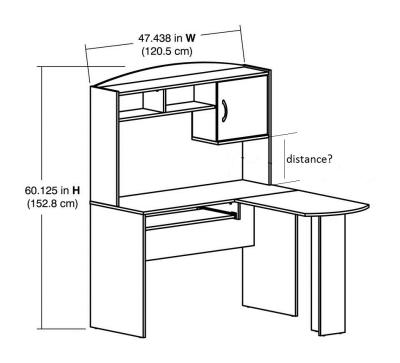 l Shaped Desk Walmart Mainstays L-shaped Desk