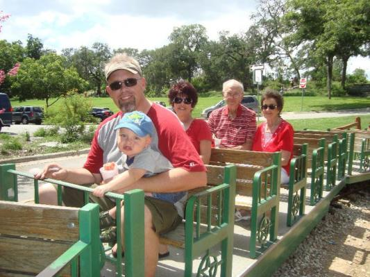 Me, my son, mom, Grandpa, and Grandma