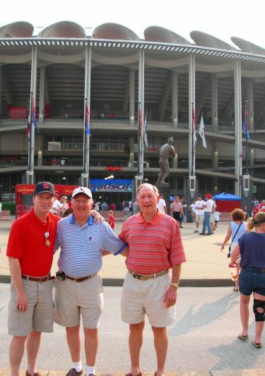 Dad's Three Sons In Final Weeks Of Old Busch Stadium, 2005