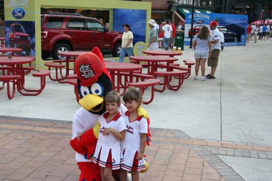 Neices with Fredbird