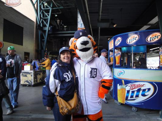 Me and Paws at Comerica Park