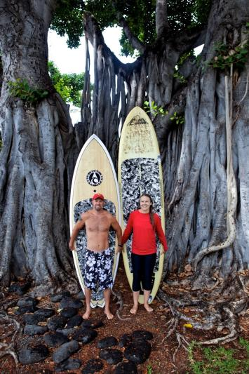 We share our passion for the ocean and paddling.