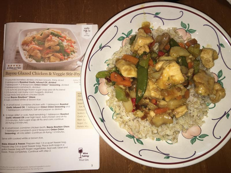 Chicken and Snap-Pea Stir-Fry forecasting