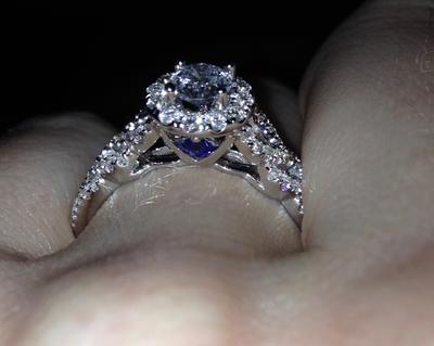 Vera Wang Love Collection 34 CT TW Diamond Frame Engagement