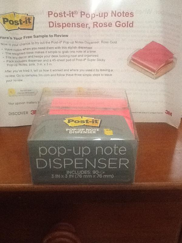 Post It Pop Up Notes Dispenser Rose Gold Base For 3 In X 3 In
