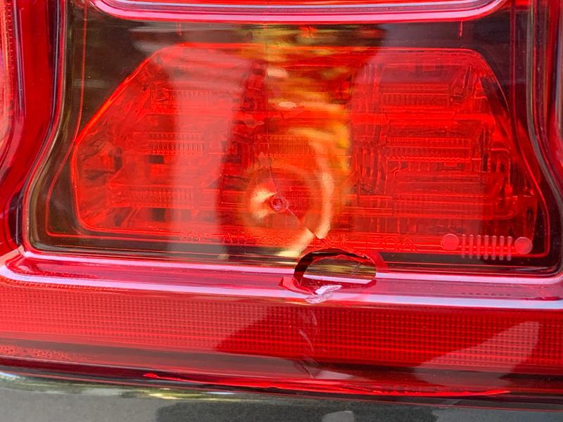 Broken taillight plastic