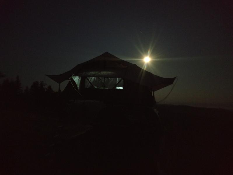 Opened up on a recent full moon campout.