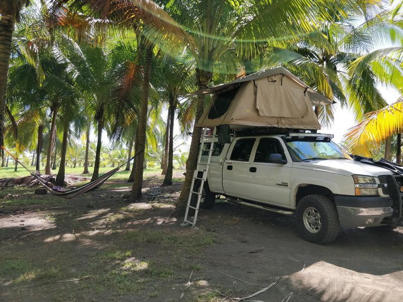 Beaching Camping in Costa Rica