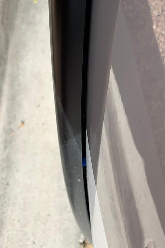 Gap between flare and truck