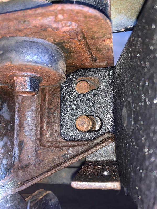 Driver side rear upright, looking from rear tire towards rear bumper.
