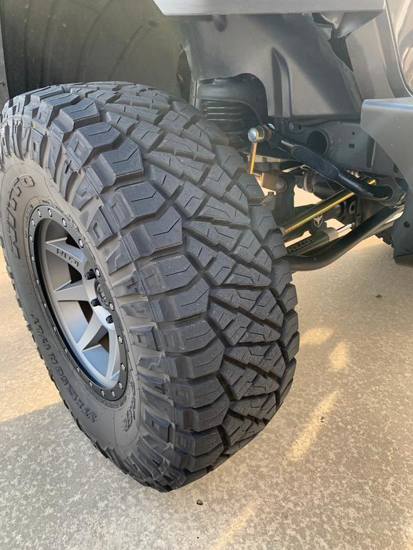 "With 37"" nitto ridge grapplers."