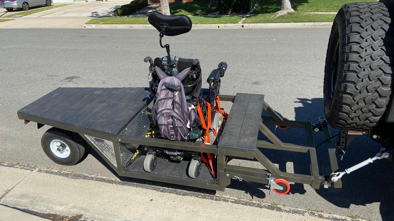 Completed swivel wheel trailer