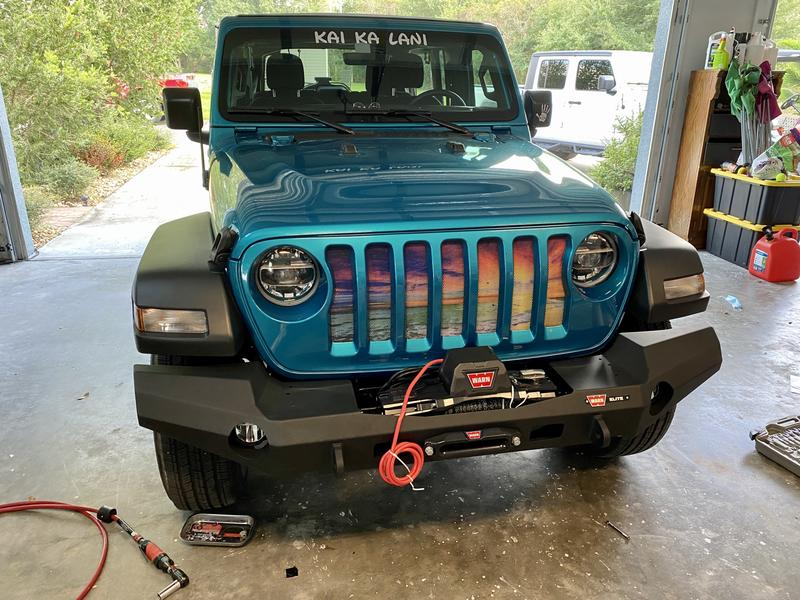 Winch installed, but not wired.