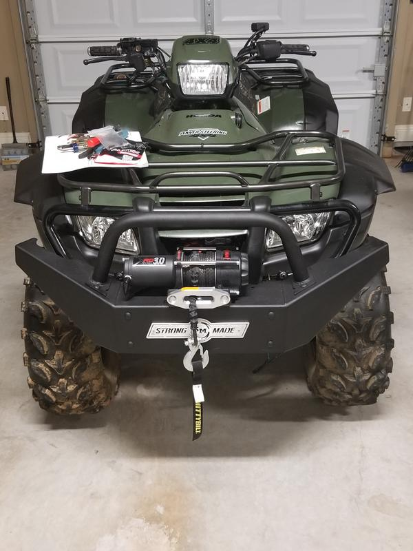 Easy install and solid construction.  Took less than an hour to mount and wire up on a Honda Foreman.  Tested afterwards, this winch is fast and quiet.