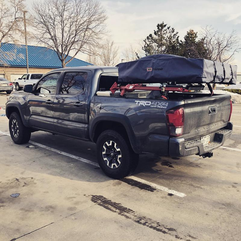 ARB Roof Top Tent pictured on a 19 Tacoma