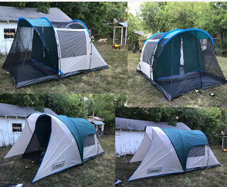 4 Person Cabin Tent With Screened Porch Evergreen Coleman