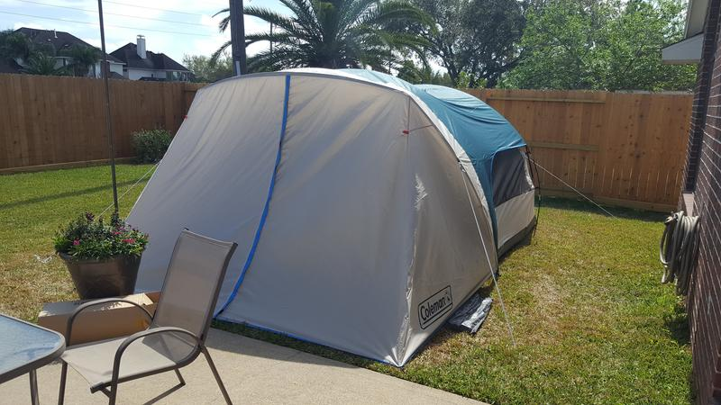 6 Person Cabin Tent With Screened Porch Evergreen Coleman