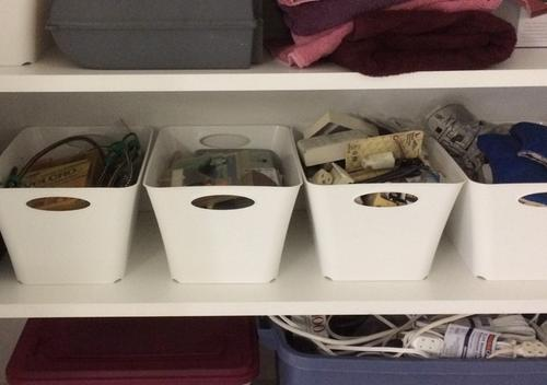 White Taper Storage Bins with Handles | The Container Store