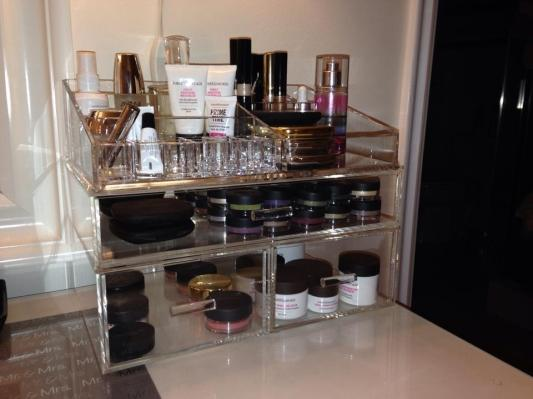 Charming Acrylic Makeup Organizer   Large Acrylic Makeup Organizer | The Container  Store