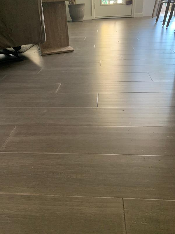 Antique Iron Wide Click Bamboo Geowood Plank Flooring Sample