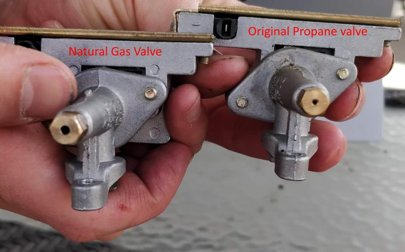 Sear Box Natural Gas Valve