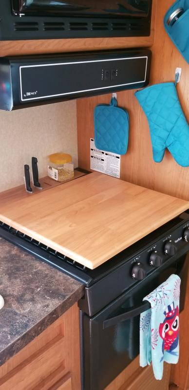 Camco Oak Accents Universal Silent Top Stovetop Cover Camping World