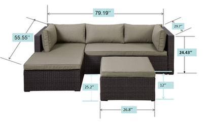 Super Carling Outdoor Patio Sectional Set 2 Pc Canadian Tire Theyellowbook Wood Chair Design Ideas Theyellowbookinfo