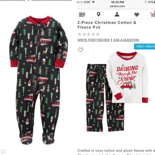 e7ac424cb5ef 2-Piece Christmas Cotton   Fleece PJs