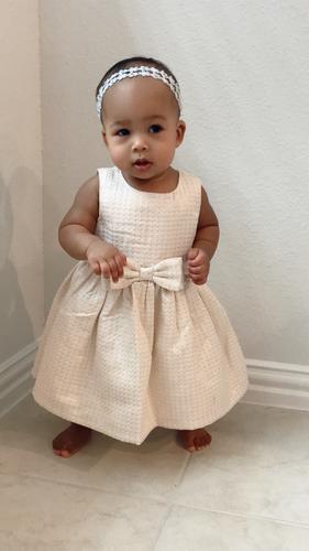f1d2a18a7a Jacquard Bow Holiday Dress